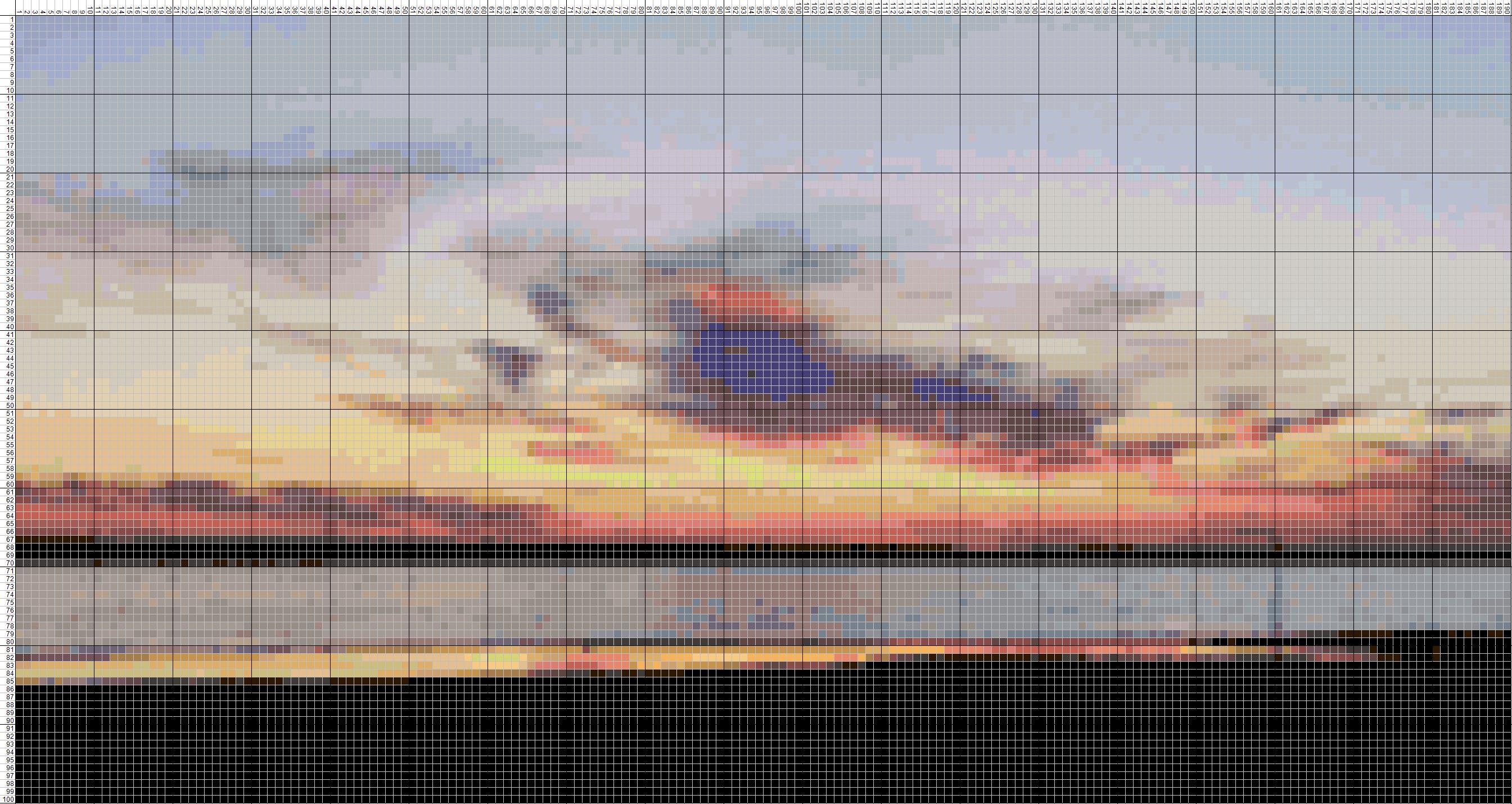 Схема для вышивки крестом море закат